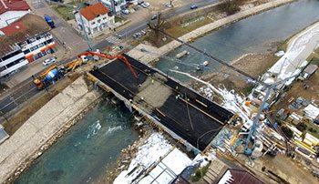 Izgradnja zamjenskog mosta u Čelincu